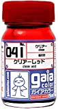 Gaia Color Lacquer 041 Clear Red Gundam Paint 15ml