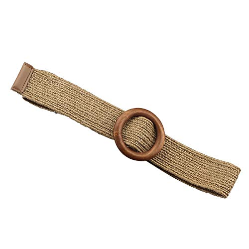 Easy-topbuy Abito Cintura Decorativa Moda Femminile Semplice Cintura Intrecciata Elastica Selvaggia, Cintura Fibbia A Forma di O.