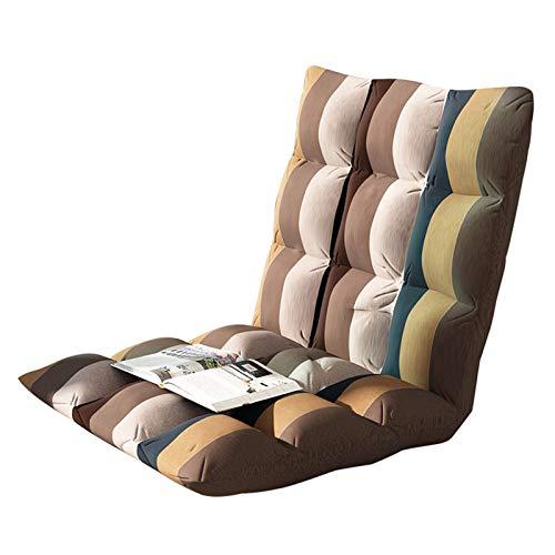 QCBC Silla de sofá Perezoso clásico, sofá Cama Plegable de Piso Ajustable Taza de Silla de Asiento futón de colchón, Acogedor