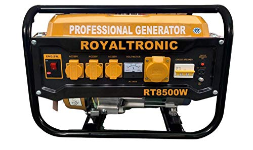 Royaltronic Benzin Stromgenerator Stromerzeuger Notstromaggregate Aggregat Generator Edelstahl Auspuff