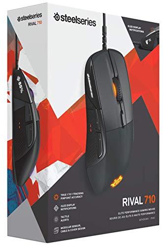 【国内正規品】ゲーミングマウスSteelSeriesRival71062334タクタイル(触覚)アラート有機ELディスプレイ搭載