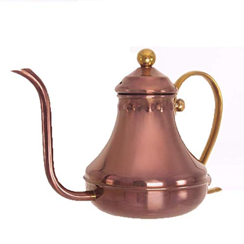 Teteras Bellas largo boca boca, acero inoxidable chapado en oro Cafetera Tetera gruesa de acero inoxidable Aislamiento - hacer café y té Leche WTZ012