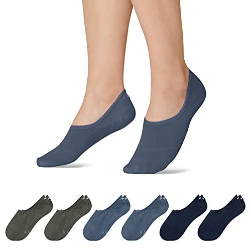 Snocks Sneaker Socken Damen und Herren (6x Paar) Füßlinge (6x Mix4, 35-38)