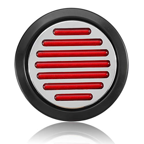 YONGYAO 12 V 12 4 inch Rundstopp Drehen Schwanzbremse Rote Lichter Flanschhalterung Für LKW Anhänger UTV Boot Caravan
