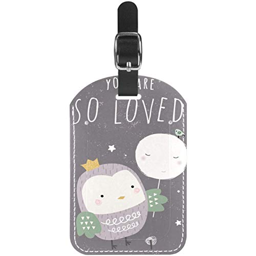 Luggage Tags You are So Loved Owl Leather Travel Suitcase Labels 1 Packs