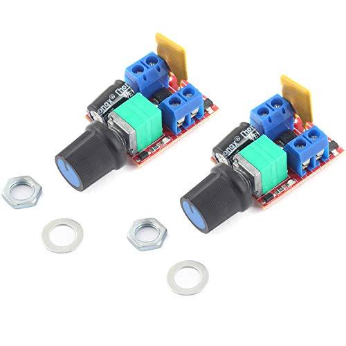 DZS Elec 2PCS Mini DC Motor PWM Speed Controller 5V 6V 12V 24V 35V 5A 90W Control Switch LED Dimmer