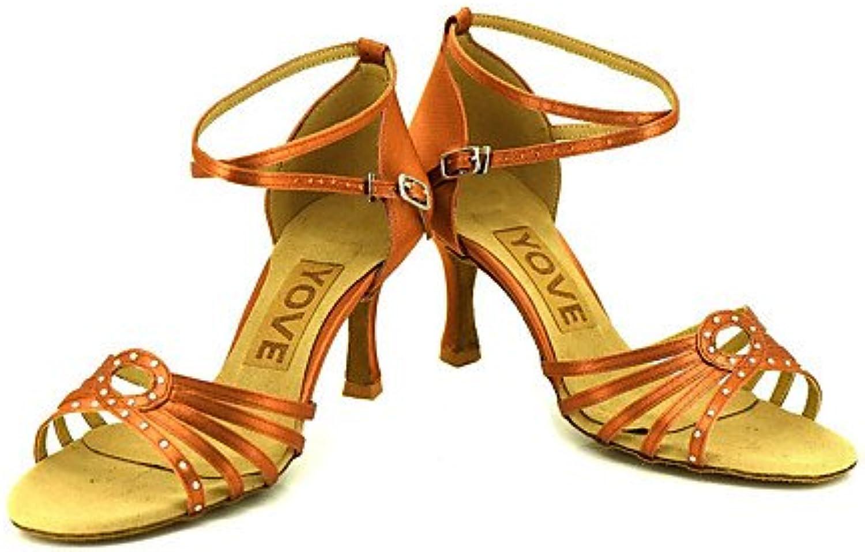 T.T-Q Frauenberuf Tanzschuhe Bronze  | Klein und fein  | Haben Wir Lob Von Kunden Gewonnen  | Shopping Online