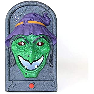 Halloween Decoration Doorbell Pendant Scaring Toys Halloween Trick Props (Witch)