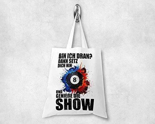 Handgemachte Billard Tasche, Perfektes Geschenk für Snooker Fans Lässige Umhängetasche, Unisex-Tragtasche, Strapazierfähiges Design, 38 ×42 cm