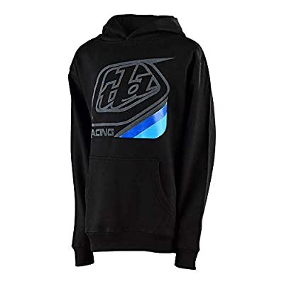 Troy Lee Designs Youth Kids Precision 2.0 Pullover Hoodie (Youth Small, Black)