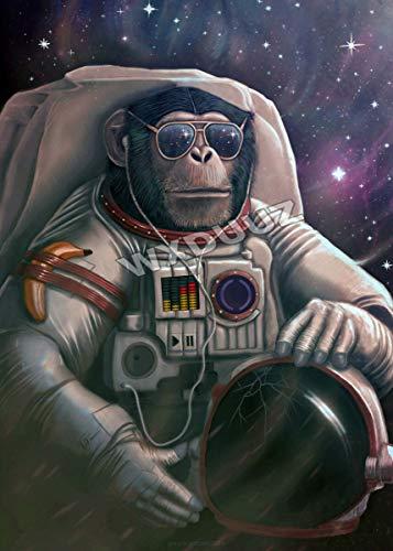 FHGFB DIY「Astronauta Planeta Mono」Kit de Pintura por nú