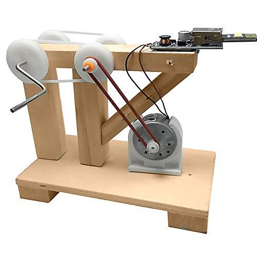 Juego de materiales de generador manual, generador de electricidad de bricolaje, electrónico apto para niños para niños
