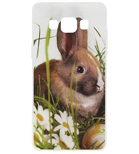 Adel Silicone TPU Back Cover Softcase Custodia Cellulare Compatibile con Samsung Galaxy A3 (2015) - Coniglio