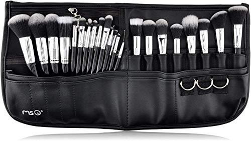 MSQ Makeup Brushes Set 29pcs Professional Cosmetics Brushes with Belt Waist Makeup Bag (Foundation, Powder, Creams, Liquids & Eye Brushes) for Women / Girls / Artists / Holiday gifts / travel