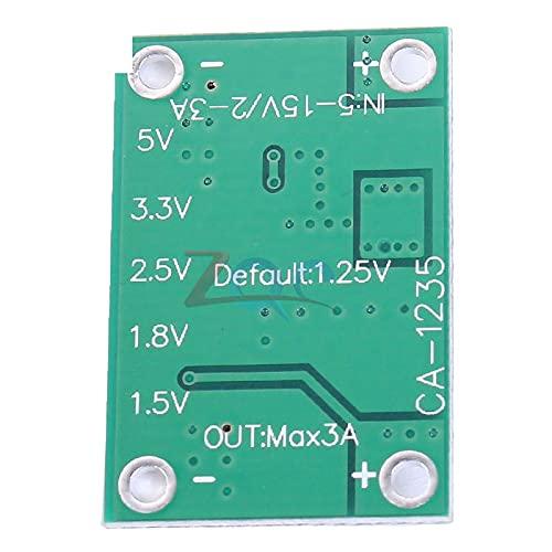 DC DC Step Down Power Supply Module 5-16V to 1.25V/1.5V/1.8V/2.5V/3.3V/5V Universal Adjustable Buck Converter 3A for LCD