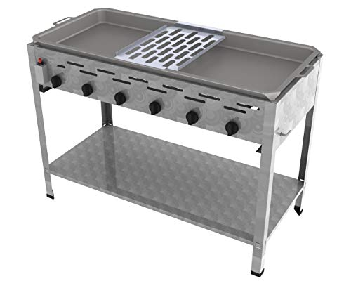 ChattenGlut Reibekuchenbräter 6 Flammig 22 kW Tischgerät Reibekuchenauflage
