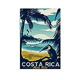 CANCUI Vintage Costa Rica Reisen Deko Poster deko