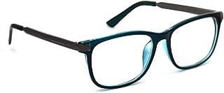 Blue Light Blocking Glasses,Transparent Lens(No Magnification) for Anti Eyestrain,Anti Reflective,Anti Glare,UV400 Protection,Reading Glasses(Transparent Blue)