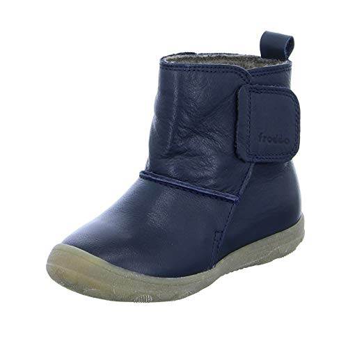 Froddo Jungen Kinder Stiefel G2160042 Klettverschluss Warmfutter Blau Größe 22 EU