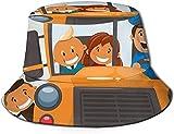 KEROTA Sombrero de pescador con estampado de autobús escolar, sombrero de pescador, protección solar al aire libre, para viajes y pesca, unisex