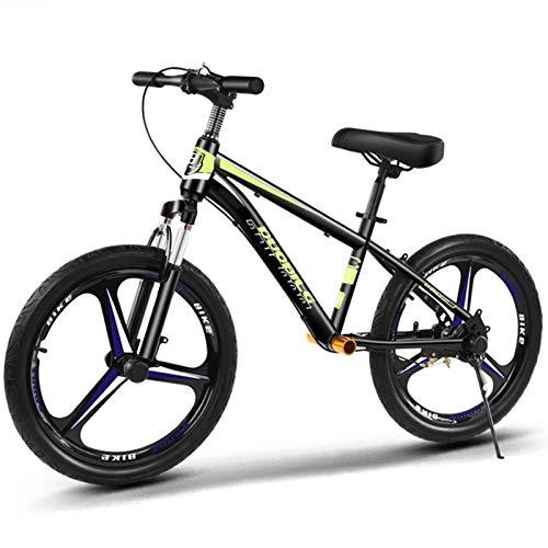 ZAQI Bicicleta sin Pedales Bici Bicicleta de Equilibrio con Ruedas Grandes de 20 Pulgadas, niños Adultos sin Entrenador de Pedales con Freno, Regalo de cumpleaños (Color : Green)