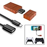 8Bitdo Wireless Controller Adapter for Nintendo Switch/Switch OLED, Windows,Mac & Raspberry Pi with a OTG Cable (Black)