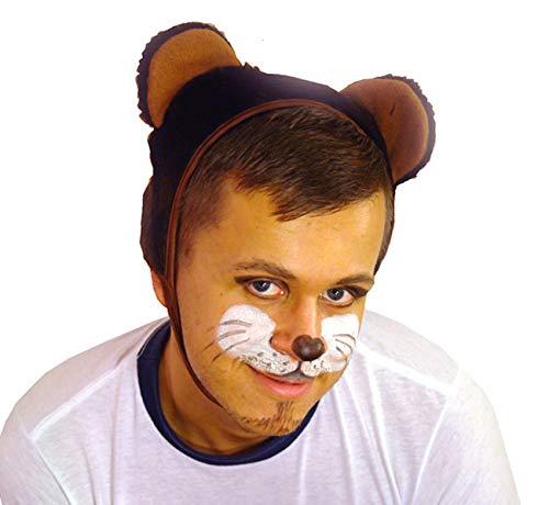 Carnevale Orso bruno cappello con orecchie costume per i bambini oltre 9 anni e adulti taglia L / XL