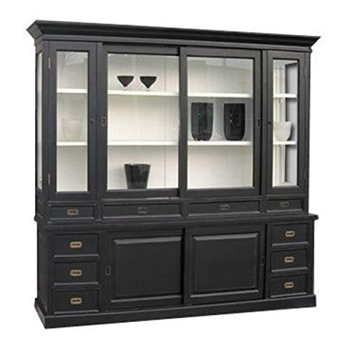 Casa Padrino Großer Shabby Chic Landhaus Stil Schrank mit 5 Türen und 10 Schubladen - Buffetschrank - Schrank Esszimmer