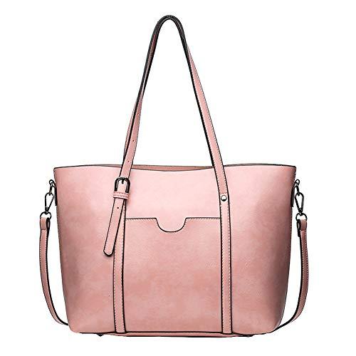 TankMR dameshandtas, imitatieleer, lichte handtas, elegant, voor werk, school, business, reizen