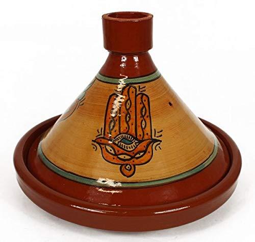 Marokkanische Tajine Hand der Fatima Premium glasiert 4-5 Personen Ø 32 cm