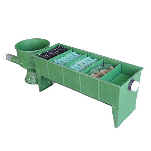 Koi GFK 5-Kammer Vortex Teichfilter bis 50.000 Liter inkl. Deckel, Filtermaterial + Verrohrung