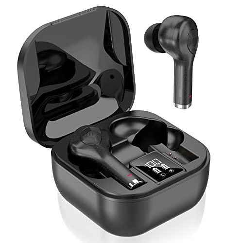 Cuffie Bluetooth 5.0 Senza Fili Bassi Potenziati, Auricolari Bluetooth con Custodia da Ricarica 40 Ore di Tempo di Utilizzo, IP7 Impermeabili Cuffie wireless, Controllo Touch per Samsung iPhone Huawei