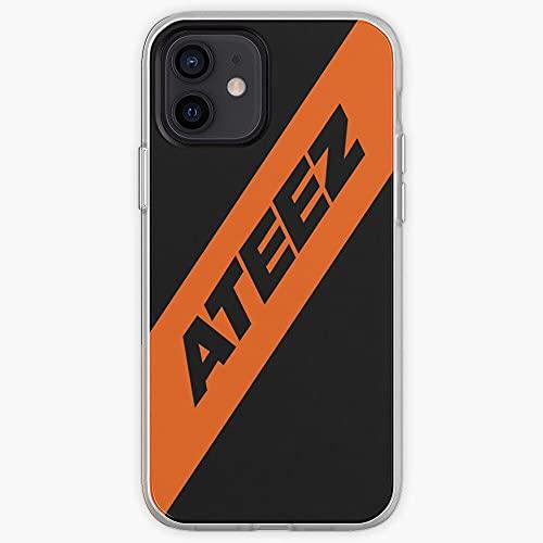 DIAOD Funda iPhone X/Funda iPhone XS Ultra-Thin Soft Frosted Semi-Transparent Phone Case Ateez P_033