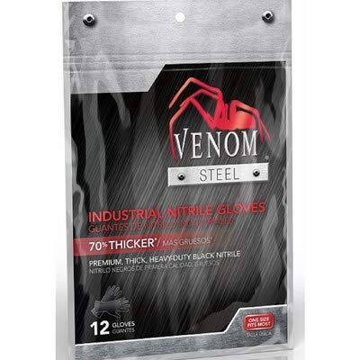 Venom Steel 12-Count One Size Fits All Nitrile Cleaning Gloves