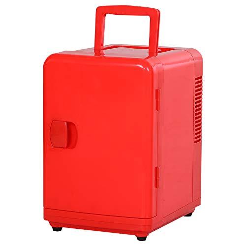 HOMCOM Mini Kühlschrank Kühlbox mit Wärmefunktion Reisekühlschrank Thermobehälter PE+PP Rot 4L 220V/12V