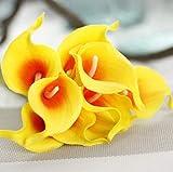 yywl Fleurs Séché 8 pcs Calla Lily Fleurs Séchées Artificielles Bouquets Fleurs Artificielles pour La Décoration De Mariage Faux Fleurs Décoration Artificielle