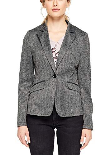 s.Oliver BLACK LABEL Damen 11.910.54.4328 Anzugjacke, Grau (Grey/Black Check 99n1), (Herstellergröße: 38)