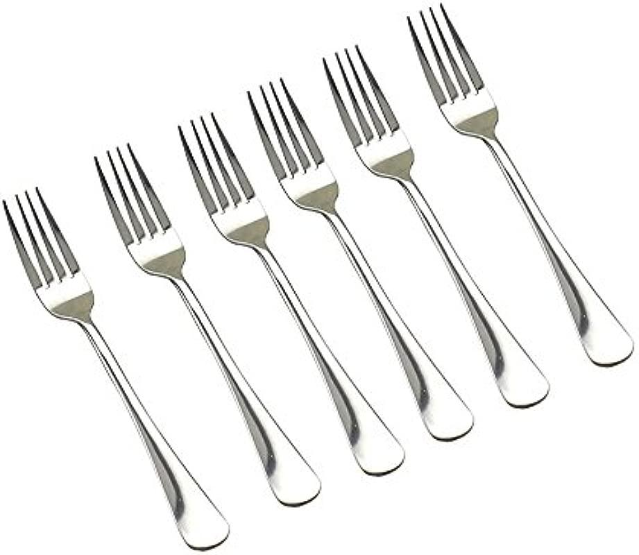 KINGSUPER Set Of 6 Stainless Steel Dinner Forks
