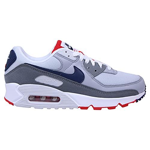 Nike Zapatillas para hombre Air Max 90, gris claro, color Gris, talla 44 EU