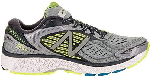 New Balance Mens 860v7 Running Shoe,Grey/Yellow,US 8 D