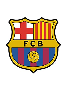 7.5  Round ~ FC Barcelona Logo Birthday ~ Edible Icing Image Cake Topper