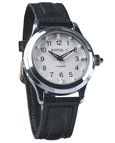 Vostok KOMANDIRSKIE Braille Reloj de Pulsera mecánico Ruso para Personas con discapacidad Visual #491210