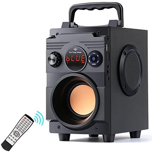 RYSF Bluetooth-Lautsprecher 20W Tragbarer drahtloser Stereo-Subwoofer Bass Große Lautsprecher Säulenunterstützung FM-Radio AUX-Fernbedienung
