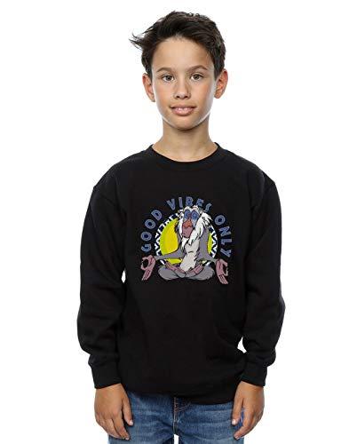 Disney Jungen The Lion King Rafiki Good Vibes Only Sweatshirt Schwarz 5-6 Years