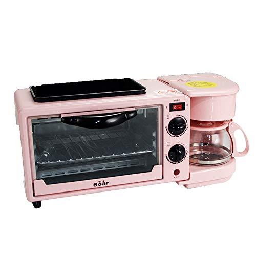 YQY Desayuno estación multifunción 3 en 1 café del Desayuno Horno de Pan automático Mini eléctrico de la máquina Horno Tostador fácil de Usar para el hogar