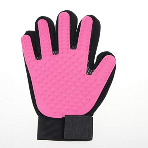 Haar hond huisdier handschoen borstel kam en schoonmaken Furmins esthetische massagehandschoen vinger handschoenen schone energie kat haren,rechts,M