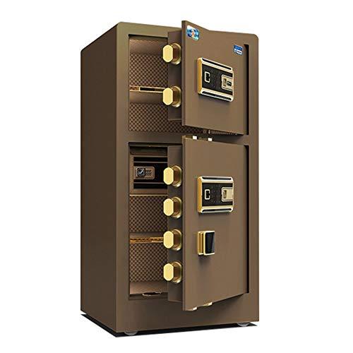 MAATCHH Caja Fuerte de Gabinete Caja Fuerte con la Huella Digital Digital de Doble Puerta de Seguridad electrónica biométrica con Dos Llaves Digital Lock para el Negocio en casa