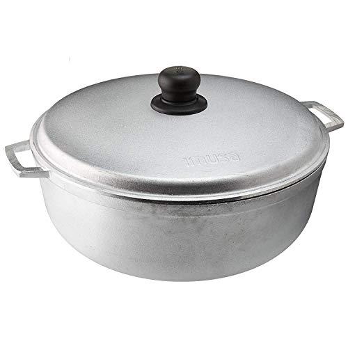 IMUSA USA GAU-80506W Traditioneller kolumbianischer Caldero (Dutch Oven) zum Kochen und Servieren, Silber