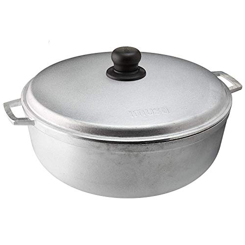 IMUSA USA GAU80506W 69Qt Traditional Colombian Caldero Dutch Oven for Cooking and Serving Silver