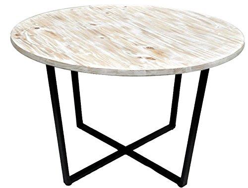 Revimport Table Bois et métal, 120x120x77 cm